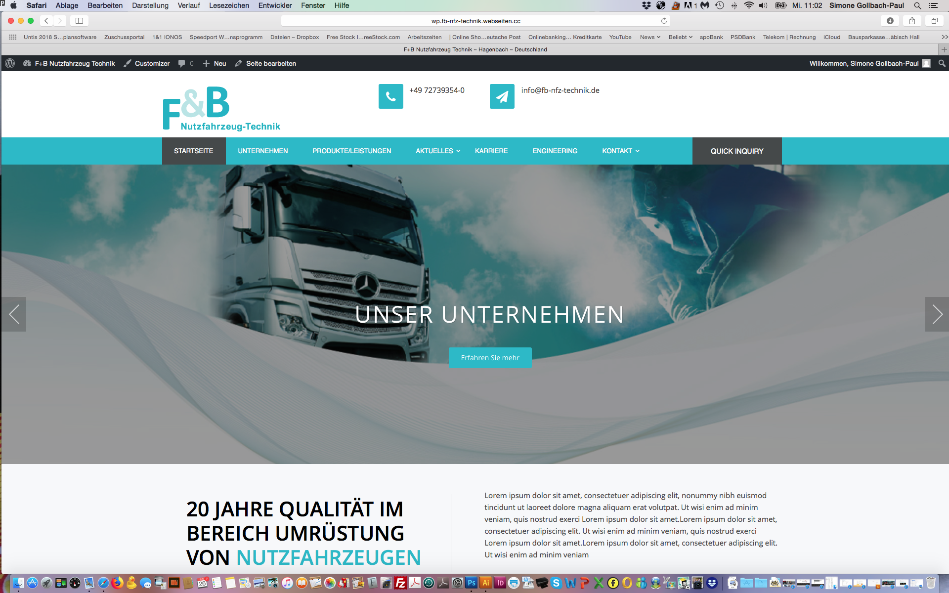 Neue Website F&B